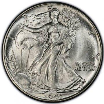 1941 Walking Liberty Silver Half Dollar Coin - BU