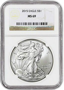 2015 1 oz American Silver Eagle Coin - NGC MS-69