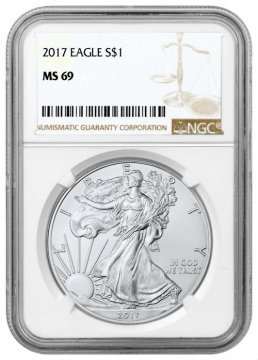 2017 1 oz American Silver Eagle Coin - NGC MS-69