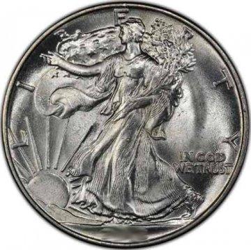 Walking Liberty Silver Half Dollar Coins - Random Dates - BU
