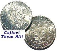 1890-S Morgan Silver Dollar Coin - BU