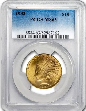 $10.00 Indian Head Gold Eagle Coins - Random Dates - PCGS or NGC MS-63