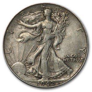 1916-1947 20-Coin 90% Silver Walking Liberty Half Dollar Roll - XF