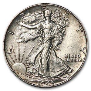1916-1947 20-Coin 90% Silver Walking Liberty Half Dollar Roll - AU