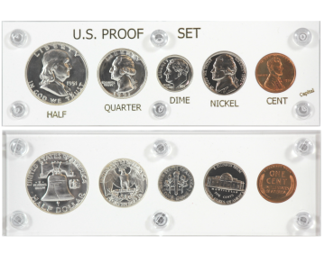 1951 U.S. Silver Proof Coin Set (New Capital Plastic Holder)