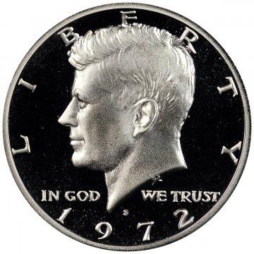 1972-S Kennedy Proof Half Dollar Coin - Choice PF