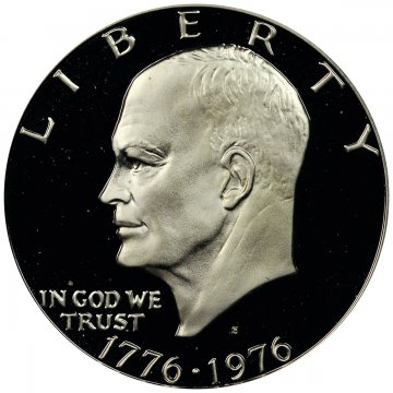 1776-1976-S Eisenhower 40% Silver Dollar Coin - Proof