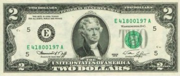 1976 $2.00 Bicentennial Federal Reserve Note - Gem Crisp Uncirculated