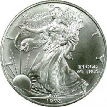 1998 1 oz American Silver Eagle Coin - Gem BU