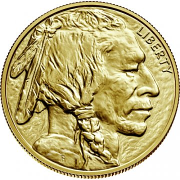 1 oz American Gold Buffalo Coin - 24K - Random Date - Gem BU