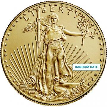 1 oz American Gold Eagle Coin - Random Date - Gem BU