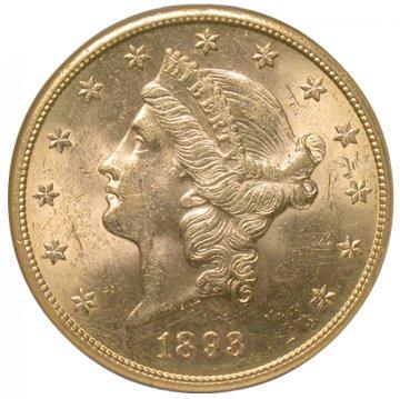 $20.00 Liberty Head Gold Double Eagle Coins - Random Dates - BU