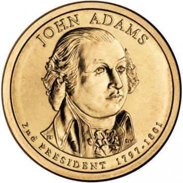 2007 John Adams Presidential Dollar Coin - P or D Mint