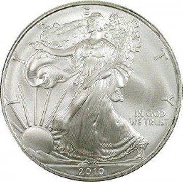 2010 1 oz American Silver Eagle Coin - Gem BU