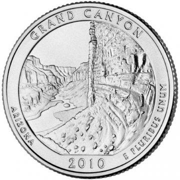 2010 Grand Canyon Quarter Coin - P or D Mint - BU