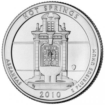 2010 Hot Springs Quarter Coin - P or D Mint - BU