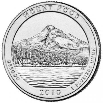 2010 Mount Hood Quarter Coin - P or D Mint - BU