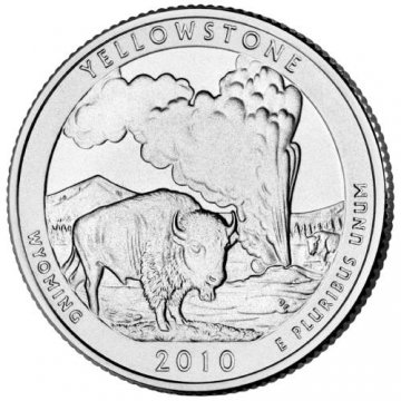 2010 Yellowstone Quarter Coin - P or D Mint - BU