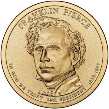 2010 Franklin Pierce Presidential Dollar Coin - P or D Mint