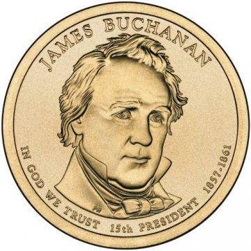 2010 James Buchanan Presidential Dollar Coin - P or D Mint