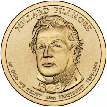 2010 Millard Fillmore Presidential Dollar Coin - P or D Mint