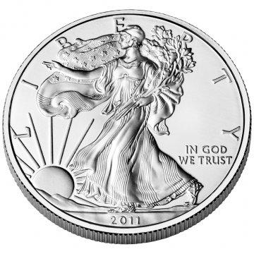 2011-W 1 oz American Burnished Silver Eagle Coin - Gem BU (w/ Box & C.O.A.)