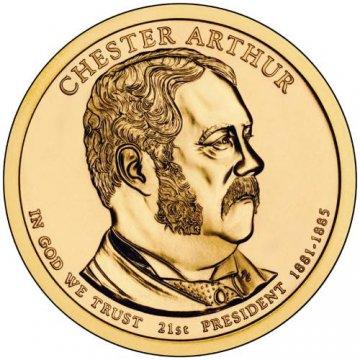 2012 Chester Arthur Presidential Dollar Coin - P or D Mint