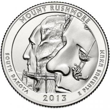 2013 Mount Rushmore Quarter Coin - P or D Mint - BU