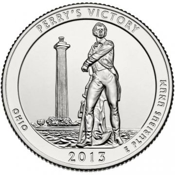 2013 Perry's Victory Quarter Coin - P or D Mint - BU