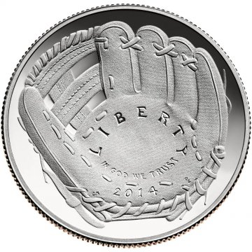 2014 Baseball Hall of Fame Proof Clad Half Dollar - Gem Proof
