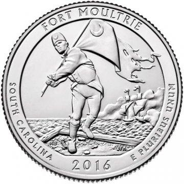 2016 Fort Moultrie Quarter Coin - P or D Mint - BU