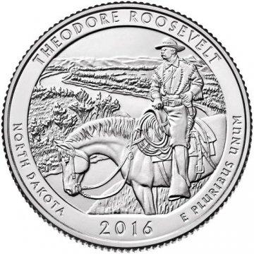 2016 Theodore Roosevelt Quarter Coin - P or D Mint - BU