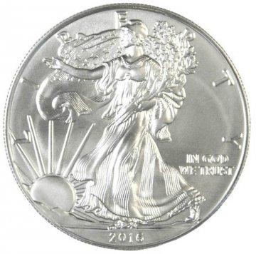 2016 1 oz American Silver Eagle Coin - Gem BU