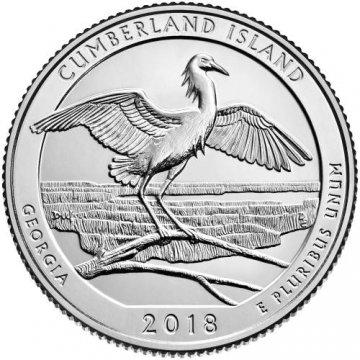 2018 Cumberland Island Quarter Coin - S Mint - BU