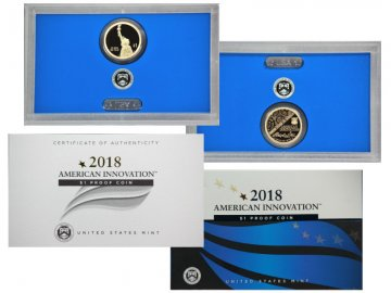 2018-S American Innovation Proof Dollar Coin Set - S Mint - First in series!