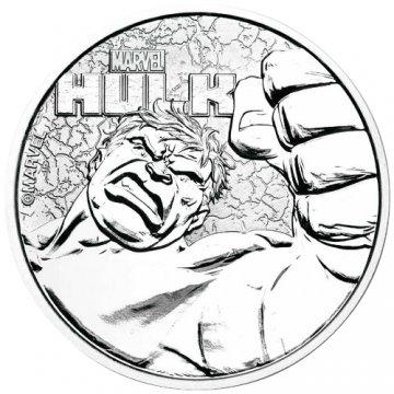 2019 1 oz Tuvalu Silver Marvel Series - Hulk Coin - Gem BU