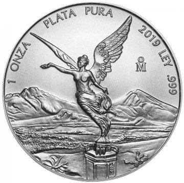 2019 1 oz Mexican Silver Libertad Coin - Gem BU