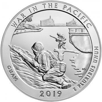 2019 5 oz Silver ATB War in the Pacific Coin - Gem BU (In Capsule)