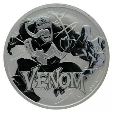 2020 1 oz Tuvalu Silver Marvel Series - Venom Coin - Gem BU