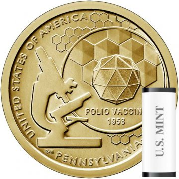 2019 25-Coin Pennsylvania American Innovation Dollar Rolls - P or D Mint
