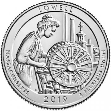 2019 Lowell Quarter Coin - P or D Mint - BU