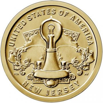 2019 New Jersey American Innovation Dollar Coin - P or D Mint