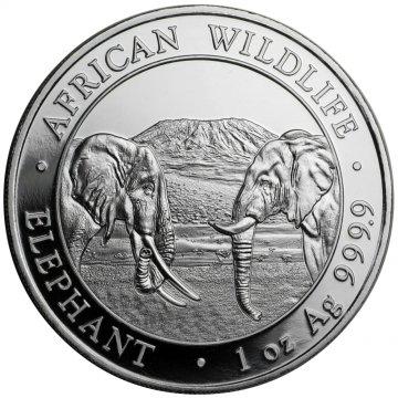 2020 1 oz Somalian Silver Elephant Coin - Gem BU