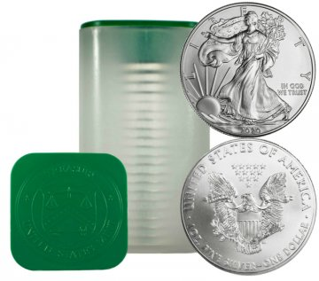 2020 20-Coin 1 oz American Silver Eagle Roll Never Opened