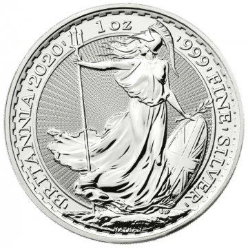 2020 1 oz Great Britain Silver Britannia Coin - Gem BU
