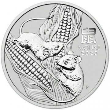 2020 1 oz Australian Silver Lunar Mouse Coin - Gem BU