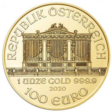2020 1 oz Austrian Gold Philharmonic Coin - Gem BU