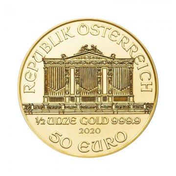 2020 1/2 oz Austrian Gold Philharmonic Coin - Gem BU