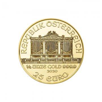 2020 1/4 oz Austrian Gold Philharmonic Coin - Gem BU