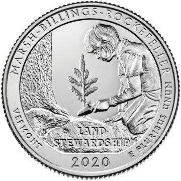 2020 Marsh-Billings-Rockefeller National Historical Park Quarter Coin - P or D Mint - BU